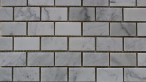 Carrara Honed Brick Mosaic tiles - Lapege